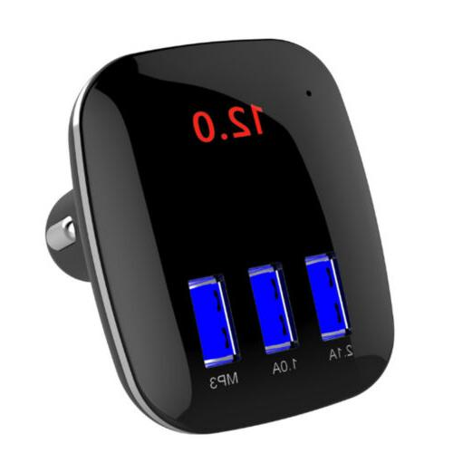 Car Wireless FM Transmitter Handsfree USB Charger 8