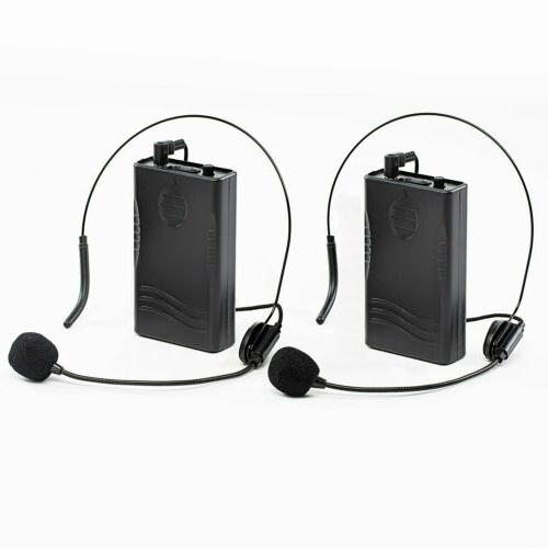 dual channel wireless bodypack transmitters with headsets