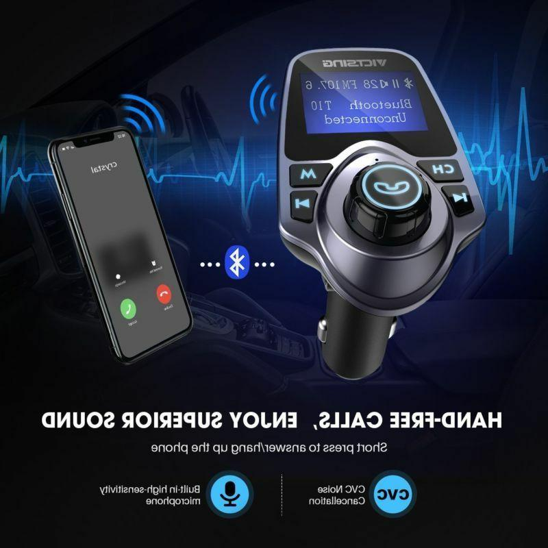 Victsing Transmitter, Bluetooth Fm Transmitter Radio Car