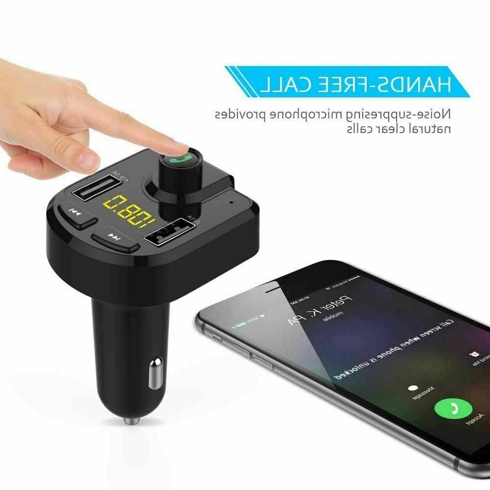 FM Transmitter MP3 Player 2 Cigarette Lighter Bluetooth
