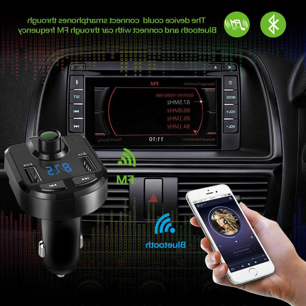FM Transmitter Player USB Cigarette Bluetooth