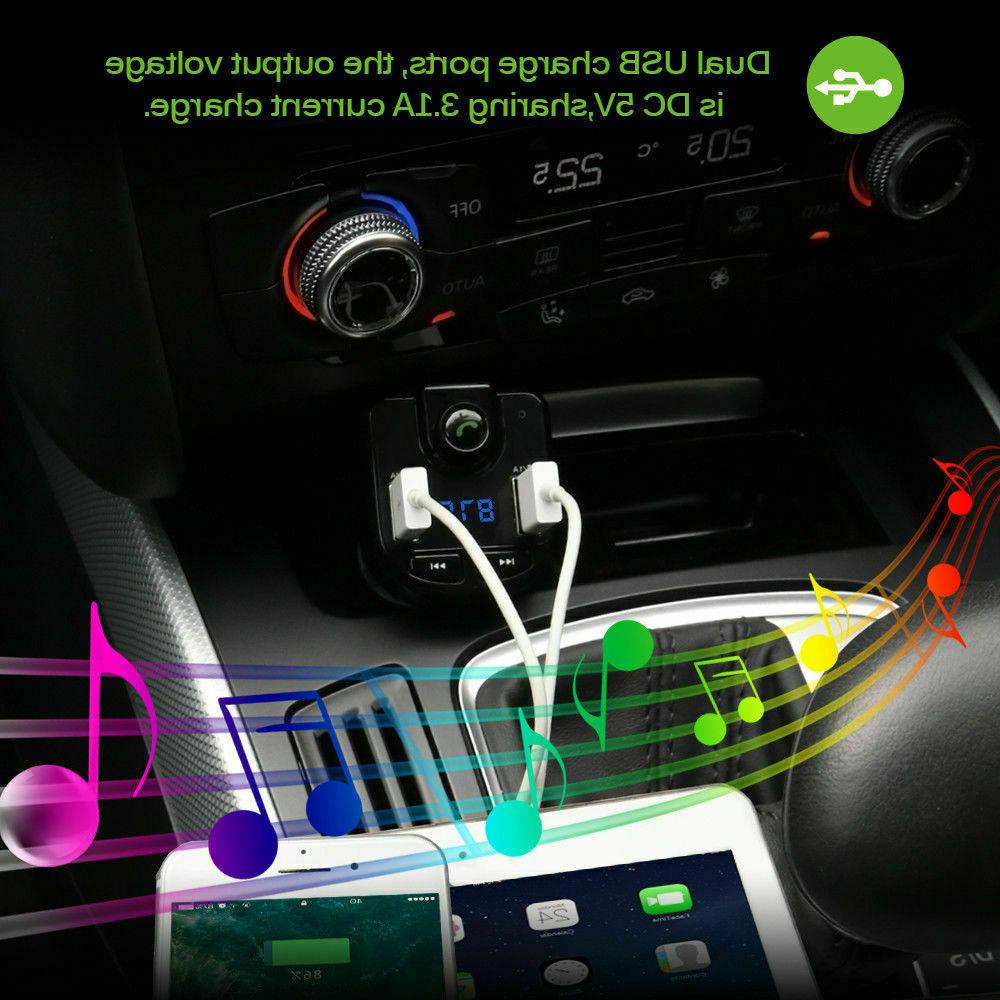 FM Player Cigarette Lighter Wireless Bluetooth