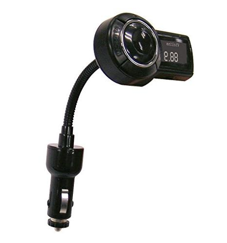 SCOSCHE Universal FM Stereo Transmitter Flexible Neck Phones, MP3 Players, Devices Black