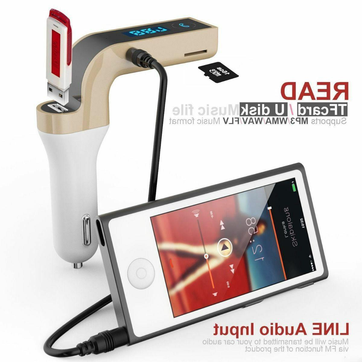Handsfree Car Charger FM Transmitter Player