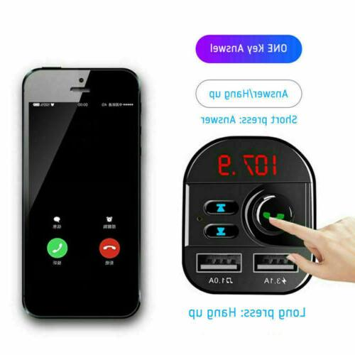 Bluetooth Car MP3 Player Hands Radio Charger
