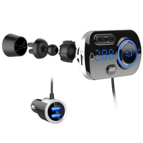 Handsfree Wireless Bluetooth FM Transmitter Mp3 Player with Charger