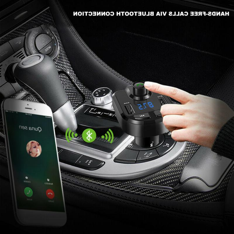 Handsfree Bluetooth Transmitter Dual Charger