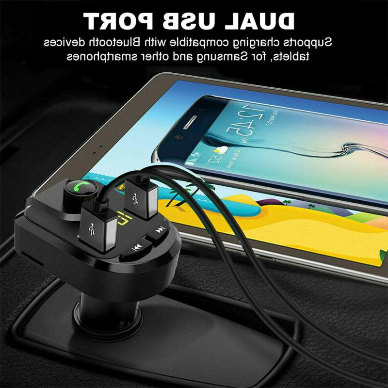 Handsfree FM Transmitter Dual Charger