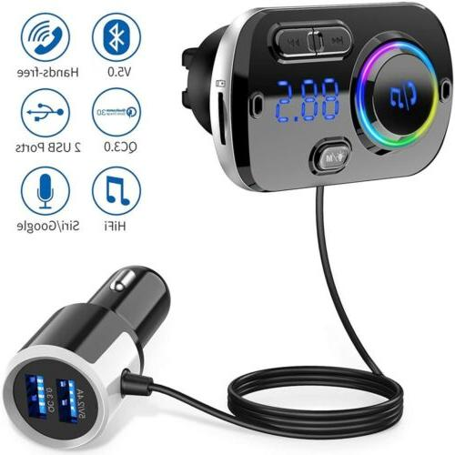 Handsfree Transmitter Car Player with USB Charger