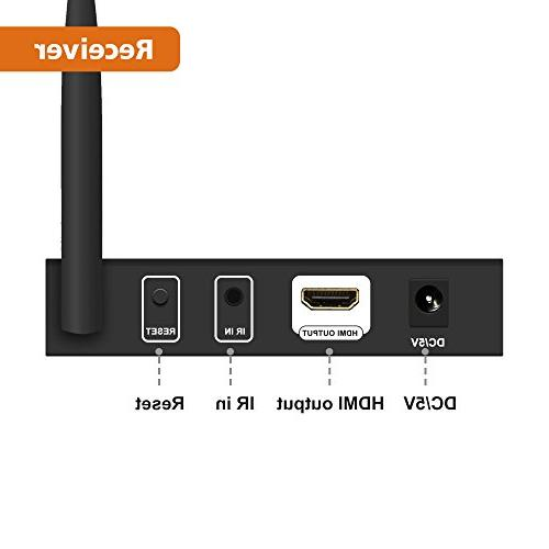 J-Tech Digital Wireless HDMI Adapter Foot Supporting HD 4K with Transmission
