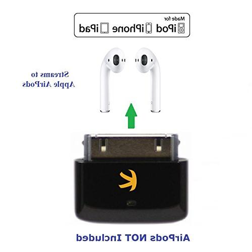 Bluetooth for iPod/iPhone/iPad Works with Apple Volume Control Plug and