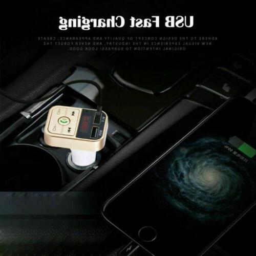 In Car Transmitter Radio Wireless Adapter Car Kit Charger