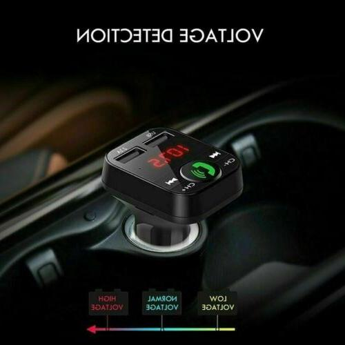 In Car Bluetooth Transmitter Radio Adapter Charger