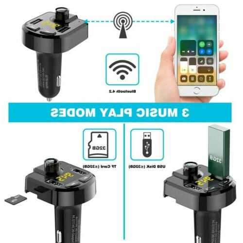 In-Car Wireless Bluetooth Transmitter Charger Radio Adapter