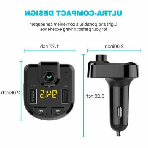 In-Car Wireless Bluetooth Transmitter USB Charger MP3 Radio Adapter Kits