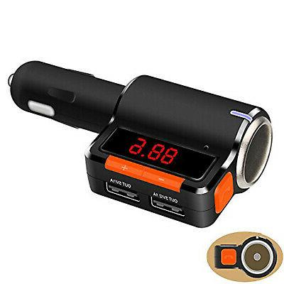 led bluetooth fm transmitter car charger adapter