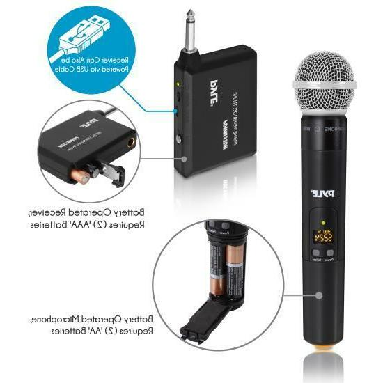 """Pyle PDWM13UH Microphone System, 1/4"""""""