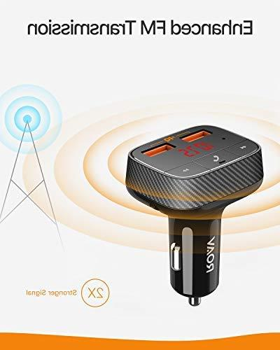 Roav SmartCharge by Anker, Bluetooth Receiver, Car Charger Bluetooth 4.2, USB Ports, Output