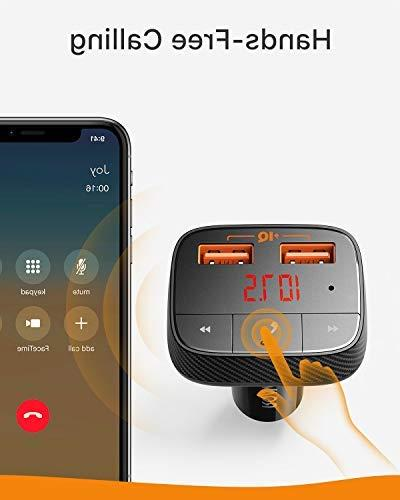 Roav SmartCharge Receiver, Charger Bluetooth 4.2, USB Ports, PowerIQ, and Output