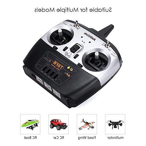 Radiolink Transmitter and Receiver R8EF 2.4GHz Radio Controller for Racing and