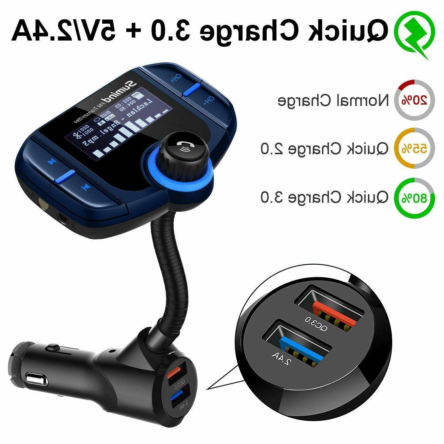 Upgraded Version) Bluetooth FM Transmitter, Adapter Hands-Free#14