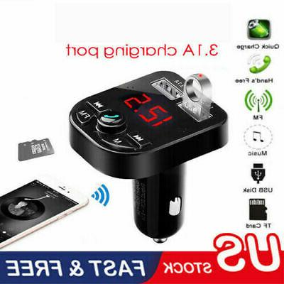 us bluetooth car usb charger fm transmitter