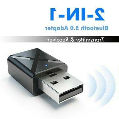 PC USB Bluetooth 5.0 Transmitter Wireless Audio Stereo Adapt
