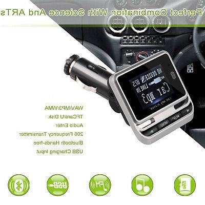 Wireless Car Bluetooth FM Transmitter with Hands-Free inch