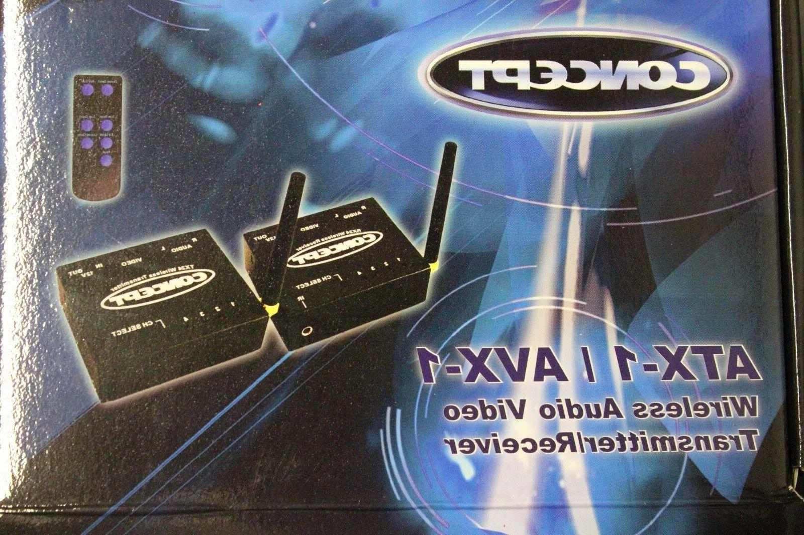 2.4GHz Wireless Audio Video AV Transmitter Receiver Set 4 CH