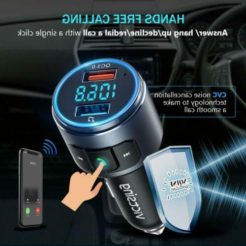 VicTsing Wireless Bluetooth FM Transmitter AUX