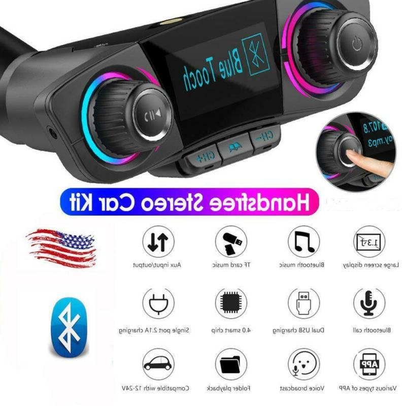 wireless bluetooth car mp3 player fm transmitter