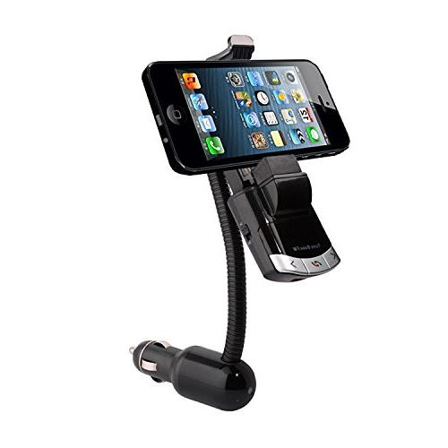Wireless Bluetooth Car Kit, Multi-functional phone Mount Holder, free Calling, GPS MP3 Charger Smart Mini