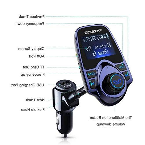 VicTsing Radio Adapter Kit Supports SD Card USB Car with 1.44