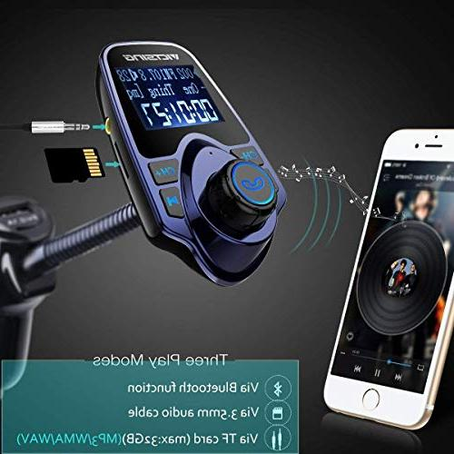 VicTsing Radio Kit Supports USB Charger 1.44 Inch