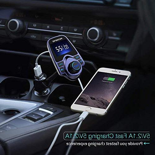 VicTsing Wireless Transmitter Radio Adapter Car Kit Supports Card USB 1.44