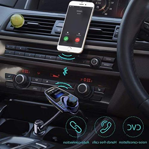 VicTsing Radio Car Kit Supports Micro SD USB with 1.44