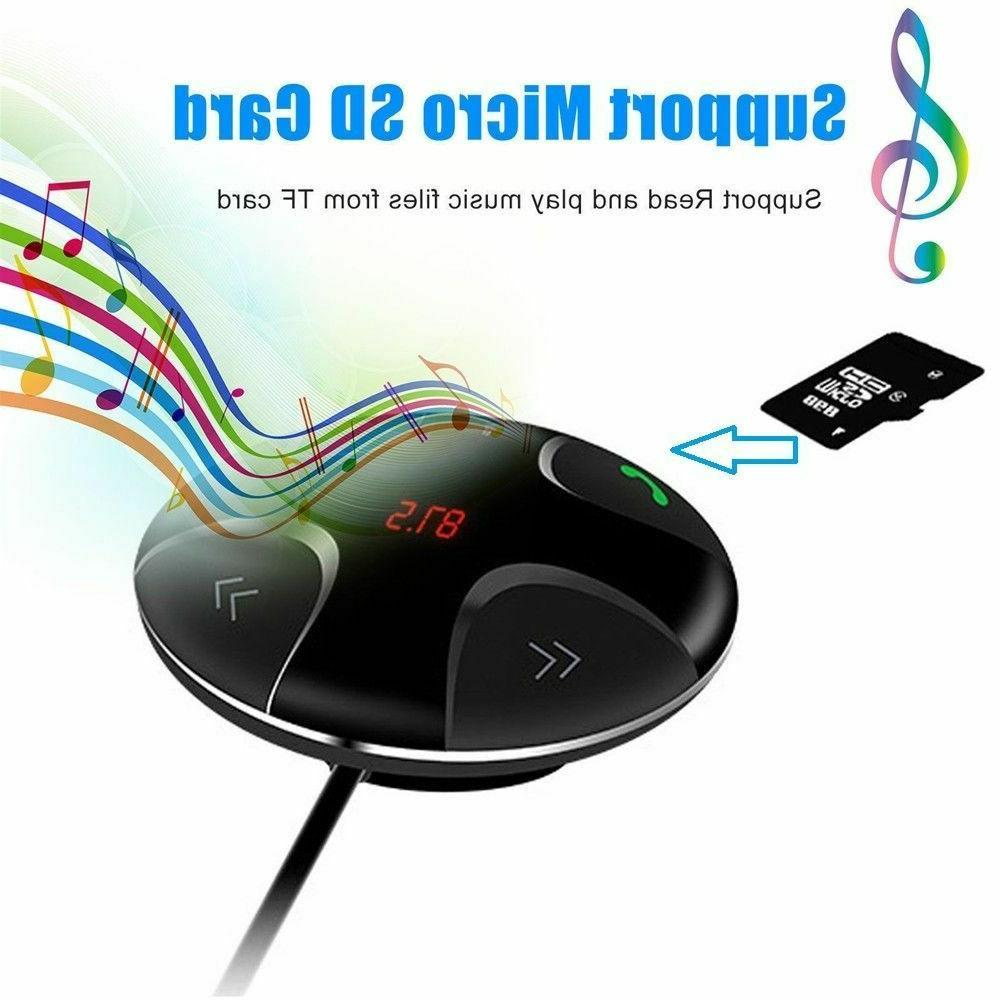 Wireless Handsfree Transmitter MP3 USB Charger Car