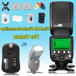 PIXEL M8 flash LCD wireless Flash light speedlight+TF-361 tr