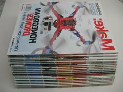 Make Magazine lot 0f 20,   FREE SHIPPING  volumes 37 thru vo