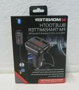 Monster MCCP-1033-BLK  Bluetooth FM Transmitter With 3.4A US