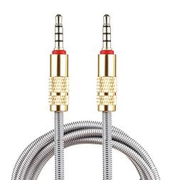 Lilware Metal Braided Audio 3. 5mm Cable with Metal Plated J