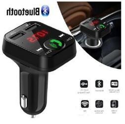 New Bluetooth Car Kit Wireless FM Transmitter Dual USB Charg