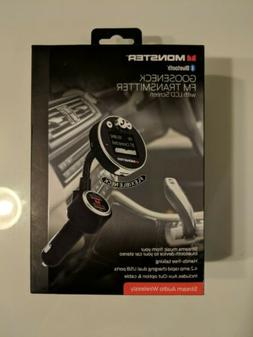 New Monster Bluetooth Gooseneck FM Transmitter w/ LCD Screen