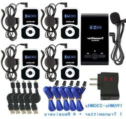 PRO ATG-100T Wireless Tour Guide System 195-230MHz 99ID 1 Tr