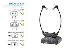 TV Ears Digital Wireless Headset System, Connects to both Di