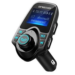 VicTsing T11 FM Transmitter,  Bluetooth FM Transmitter Car R