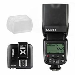 Godox TT600 2.4G TTL Wireless Speedlite Flash Fr Canon + X1T
