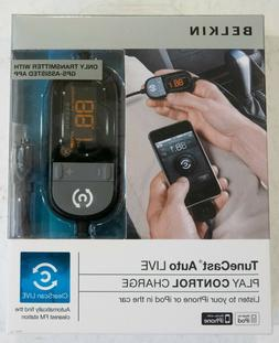 Belkin TuneCast Auto Live in-car FM transmitter - NEW SEALED
