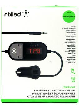 BELKIN TuneCast In-Car 3.5mm Aux Audio to FM Transmitter Bla