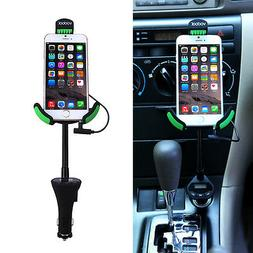 Universal USB Car Charger Mount Holder With 3.1Amp FM Transm